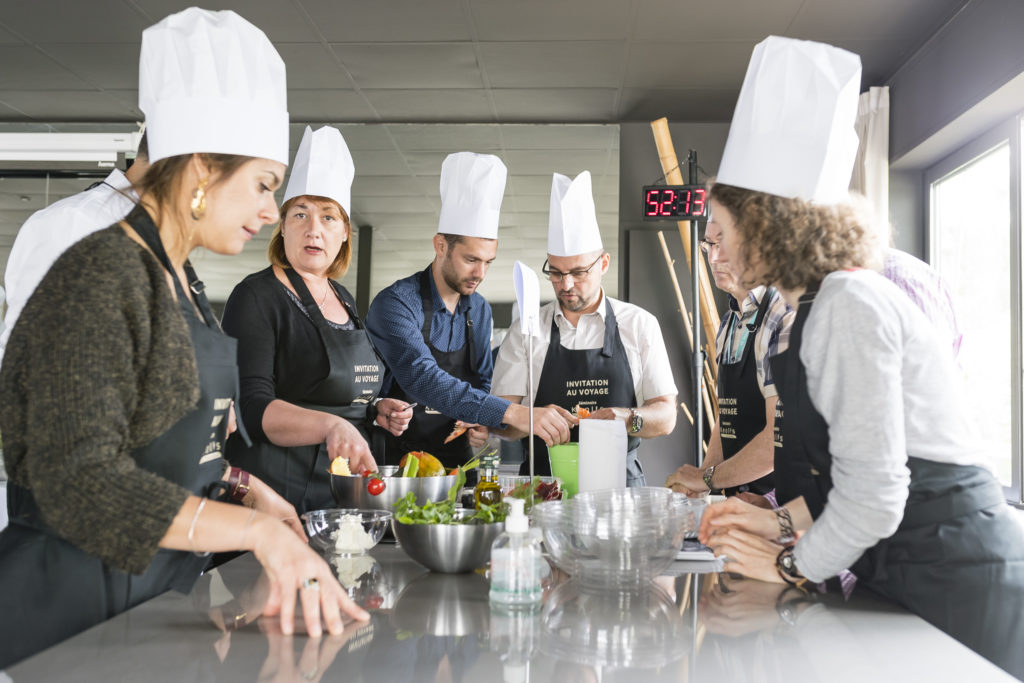 Team-building challenge culinaire